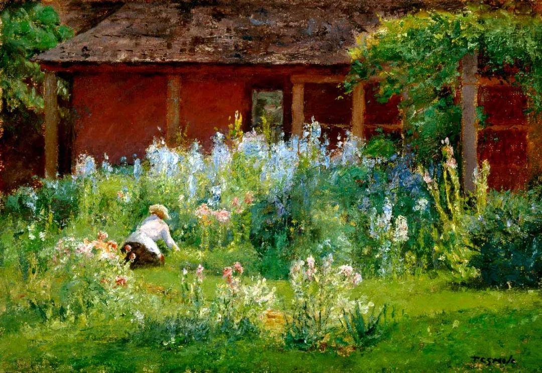 美好生动的风景,美国画家西奥多·斯蒂尔插图1