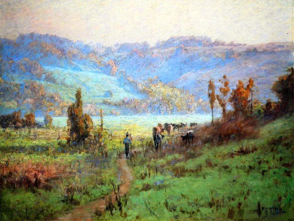 美好生动的风景,美国画家西奥多·斯蒂尔插图3