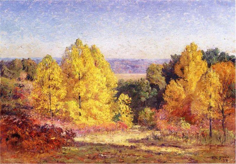 美好生动的风景,美国画家西奥多·斯蒂尔插图11