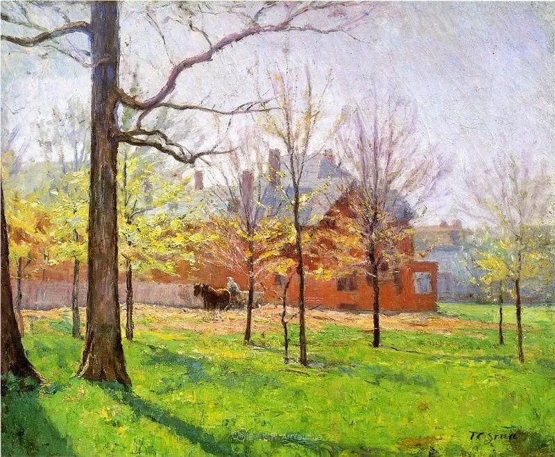 美好生动的风景,美国画家西奥多·斯蒂尔插图13