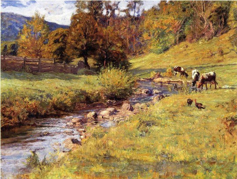 美好生动的风景,美国画家西奥多·斯蒂尔插图15