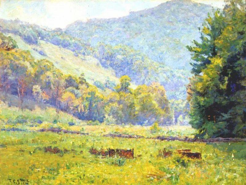 美好生动的风景,美国画家西奥多·斯蒂尔插图17