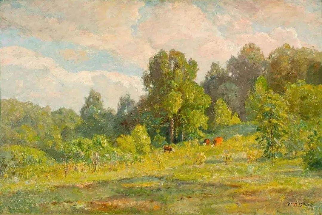 美好生动的风景,美国画家西奥多·斯蒂尔插图19