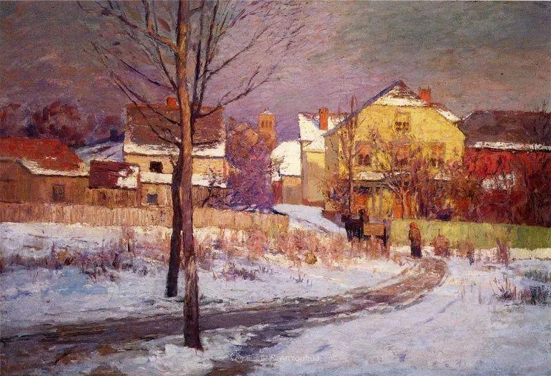 美好生动的风景,美国画家西奥多·斯蒂尔插图21