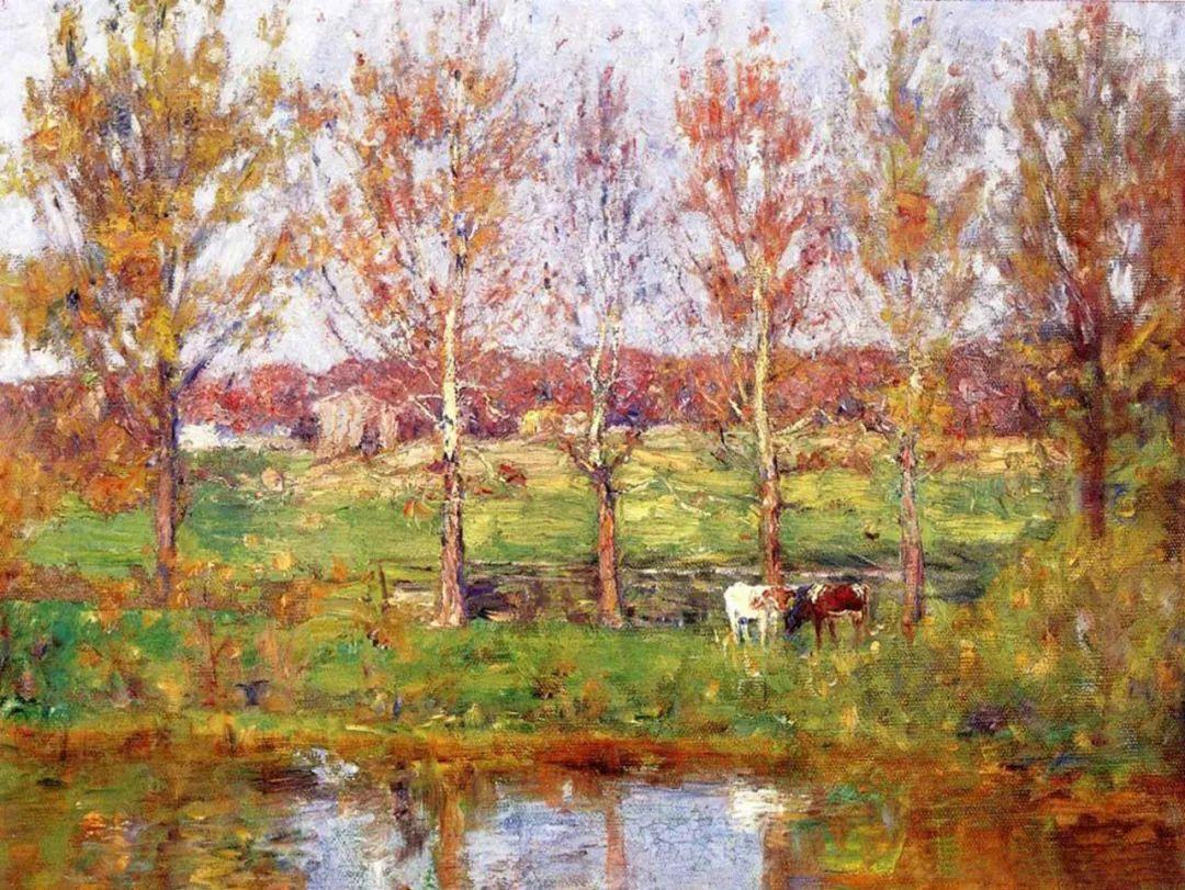 美好生动的风景,美国画家西奥多·斯蒂尔插图29