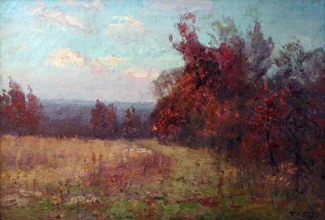 美好生动的风景,美国画家西奥多·斯蒂尔插图33