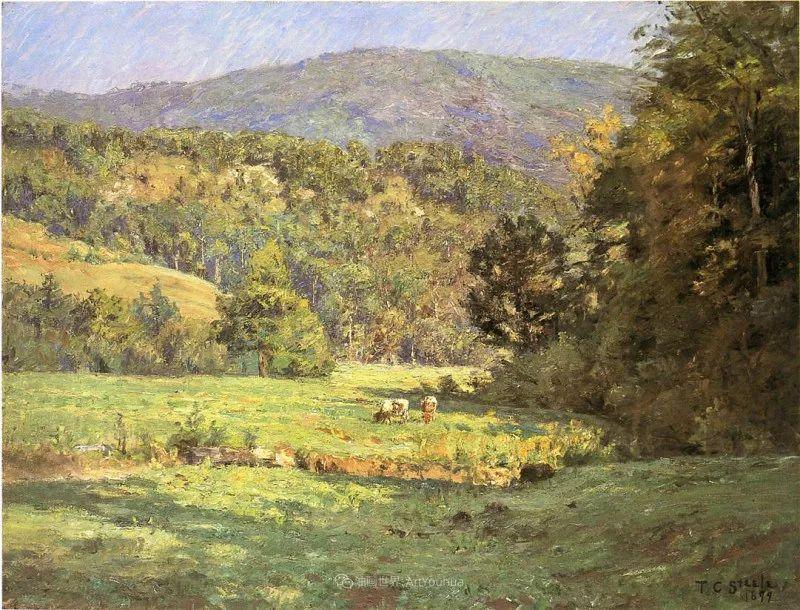 美好生动的风景,美国画家西奥多·斯蒂尔插图37