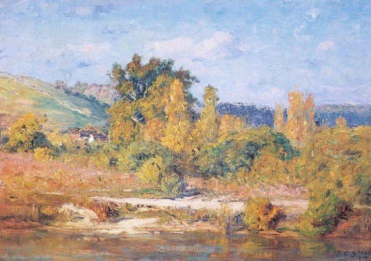 美好生动的风景,美国画家西奥多·斯蒂尔插图41