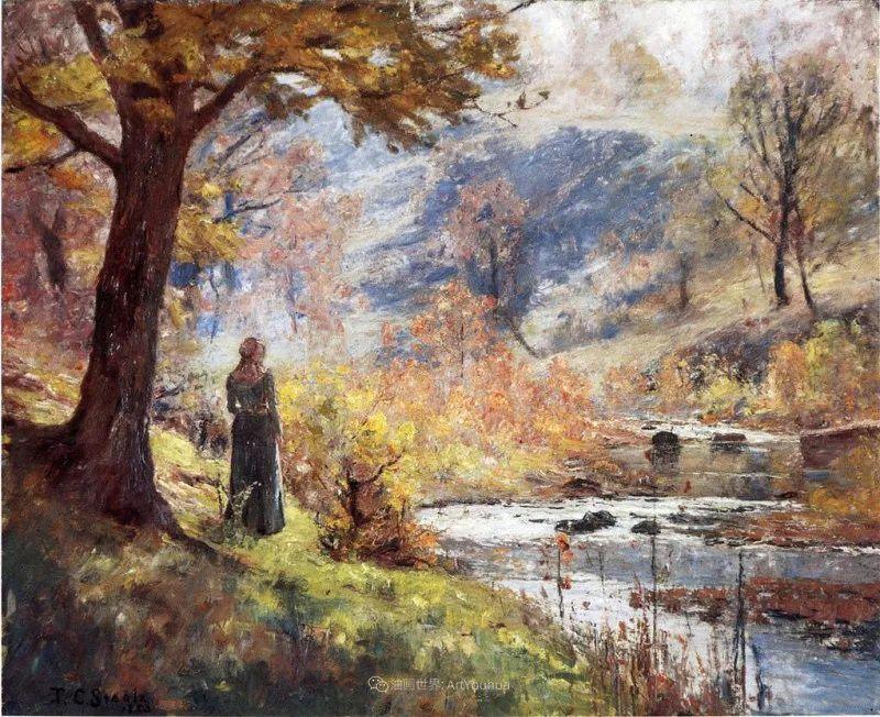 美好生动的风景,美国画家西奥多·斯蒂尔插图43