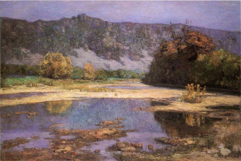美好生动的风景,美国画家西奥多·斯蒂尔插图45