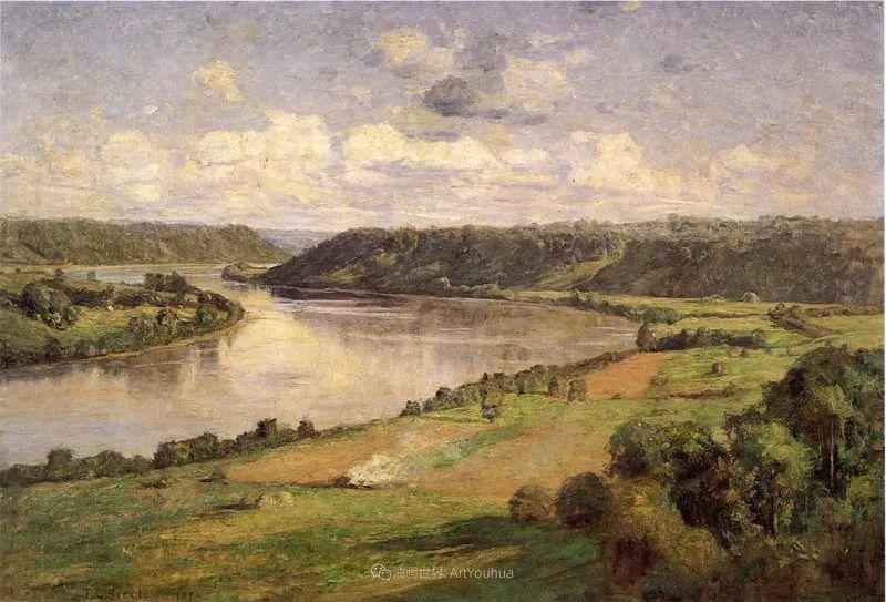 美好生动的风景,美国画家西奥多·斯蒂尔插图47
