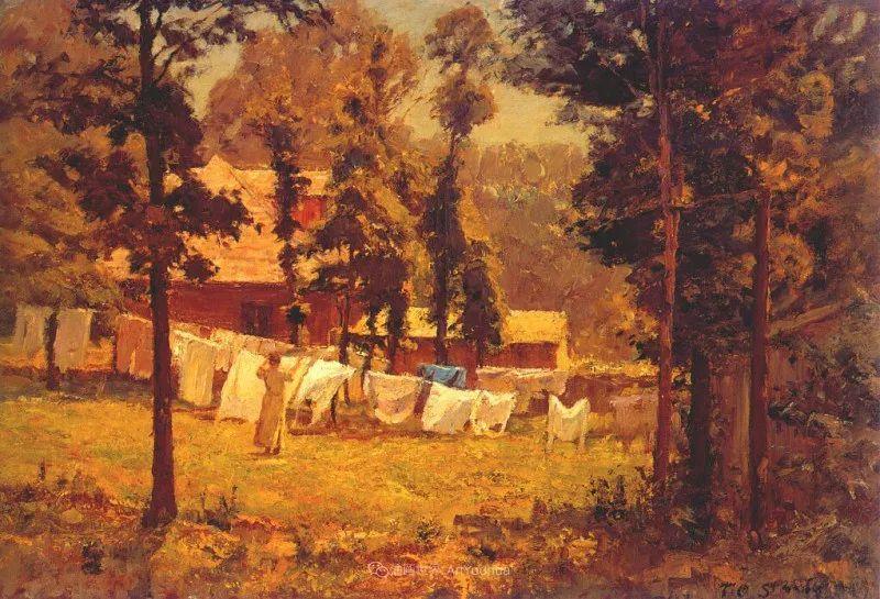 美好生动的风景,美国画家西奥多·斯蒂尔插图51