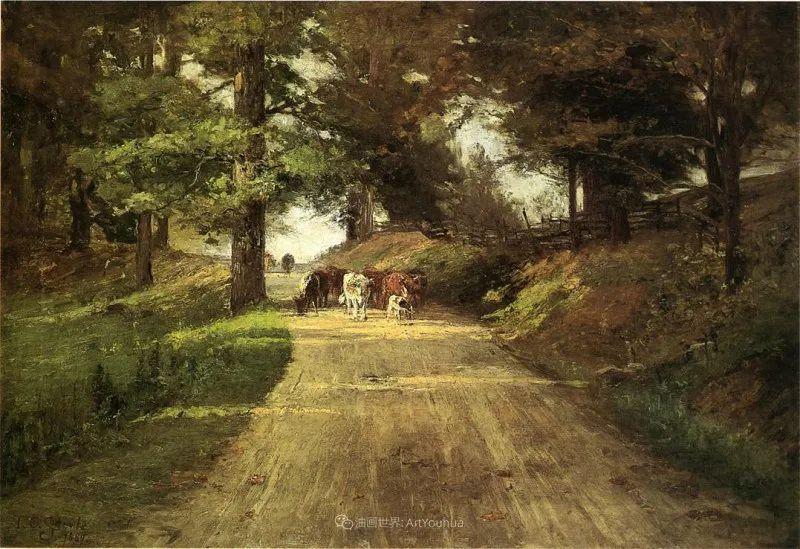 美好生动的风景,美国画家西奥多·斯蒂尔插图65