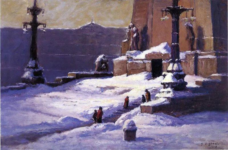美好生动的风景,美国画家西奥多·斯蒂尔插图71