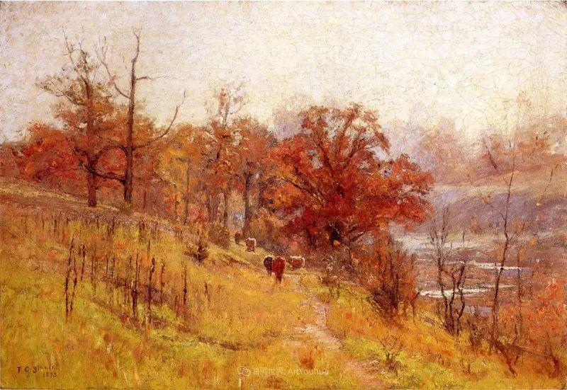 美好生动的风景,美国画家西奥多·斯蒂尔插图83