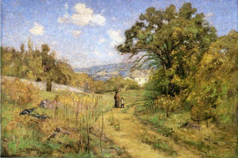 美好生动的风景,美国画家西奥多·斯蒂尔插图85