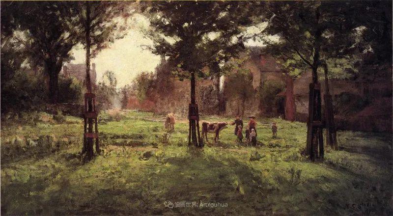 美好生动的风景,美国画家西奥多·斯蒂尔插图87