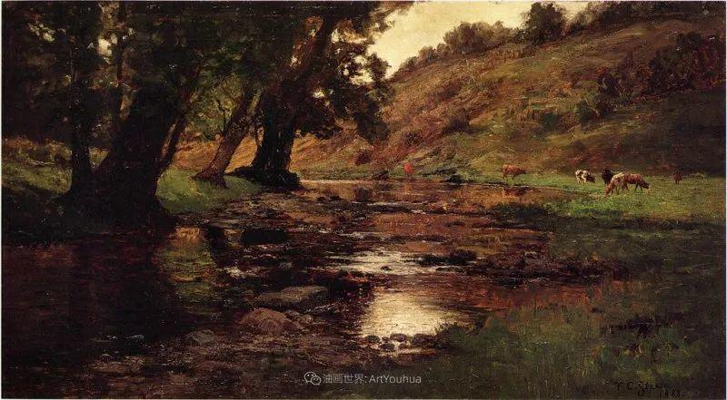 美好生动的风景,美国画家西奥多·斯蒂尔插图93