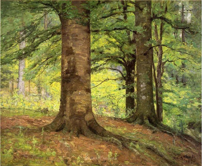 美好生动的风景,美国画家西奥多·斯蒂尔插图95