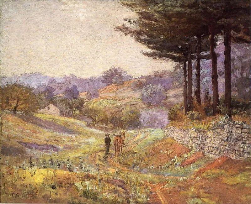 美好生动的风景,美国画家西奥多·斯蒂尔插图103
