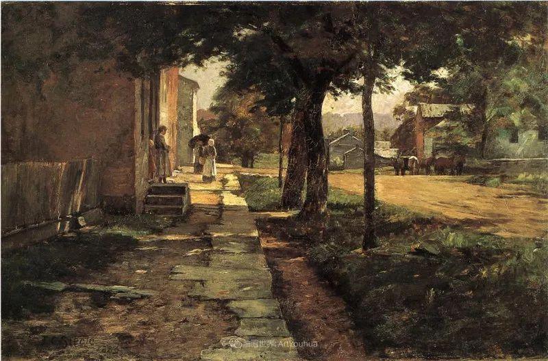 美好生动的风景,美国画家西奥多·斯蒂尔插图111