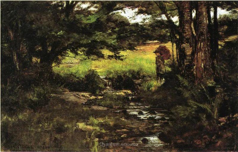 美好生动的风景,美国画家西奥多·斯蒂尔插图123