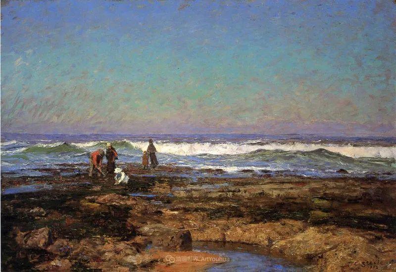美好生动的风景,美国画家西奥多·斯蒂尔插图127