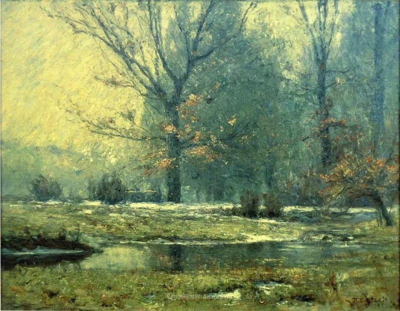 美好生动的风景,美国画家西奥多·斯蒂尔插图129
