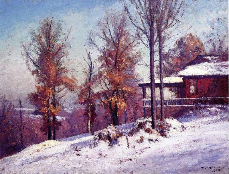 美好生动的风景,美国画家西奥多·斯蒂尔插图135