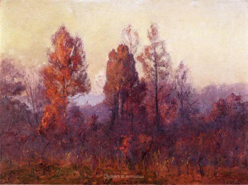 美好生动的风景,美国画家西奥多·斯蒂尔插图137