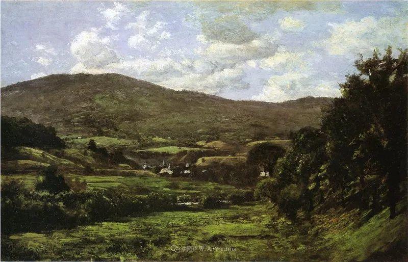 美好生动的风景,美国画家西奥多·斯蒂尔插图139