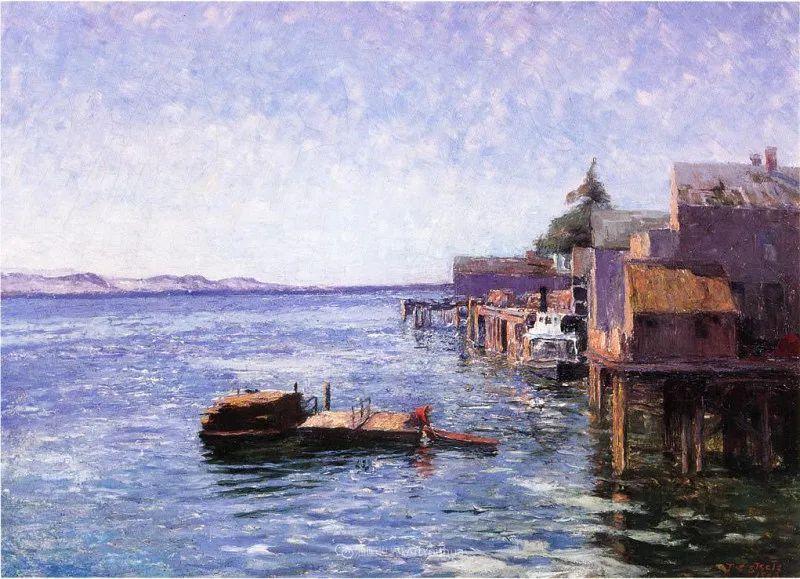 美好生动的风景,美国画家西奥多·斯蒂尔插图145