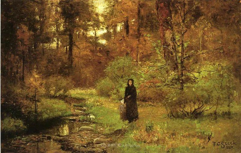 美好生动的风景,美国画家西奥多·斯蒂尔插图147