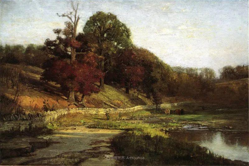 美好生动的风景,美国画家西奥多·斯蒂尔插图149