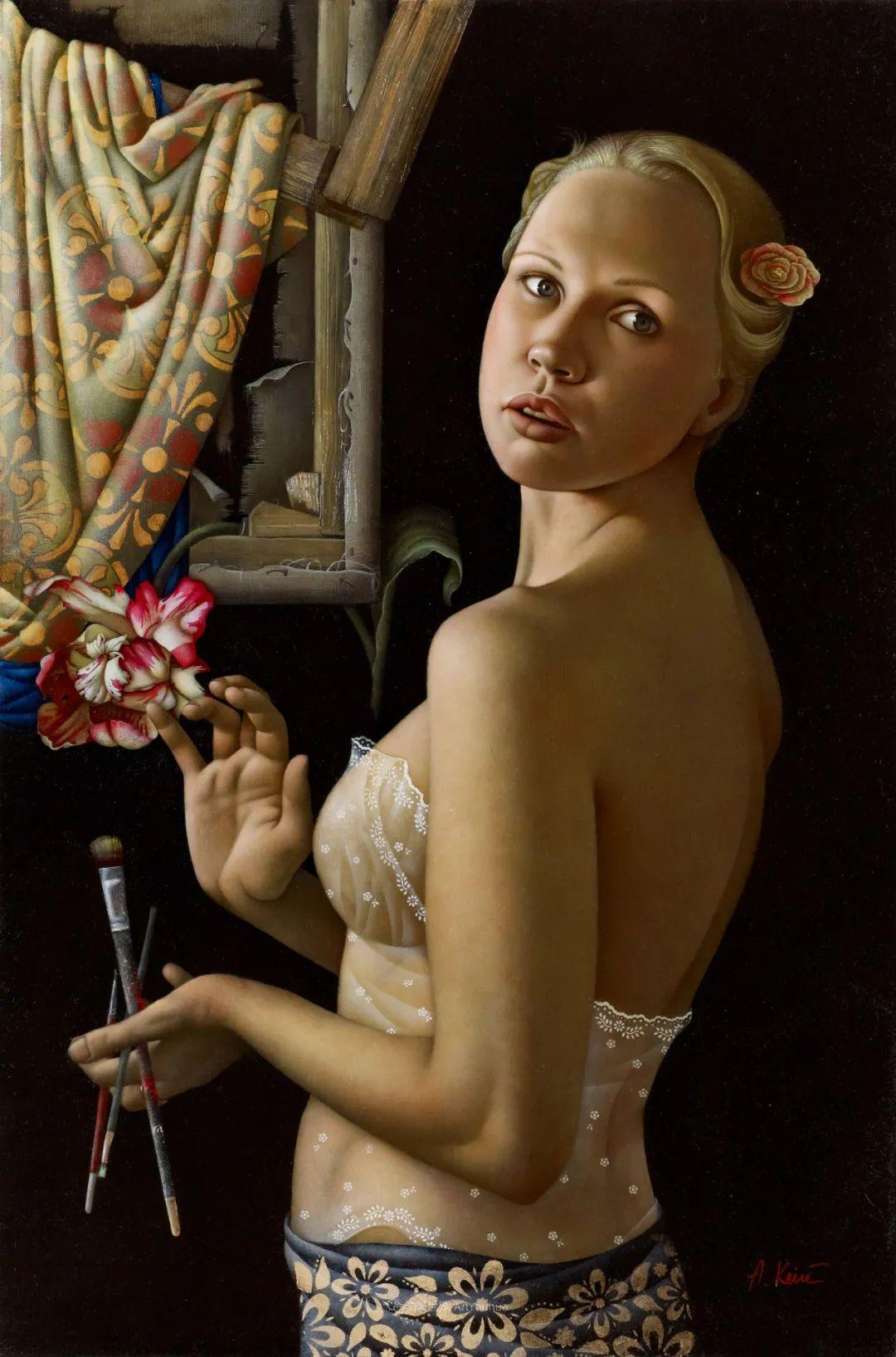 女人就像一个微妙的谜,拉脱维亚女画家阿吉塔·凯里插图13