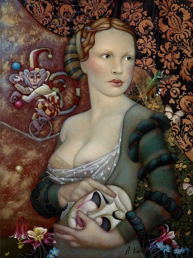 女人就像一个微妙的谜,拉脱维亚女画家阿吉塔·凯里插图31