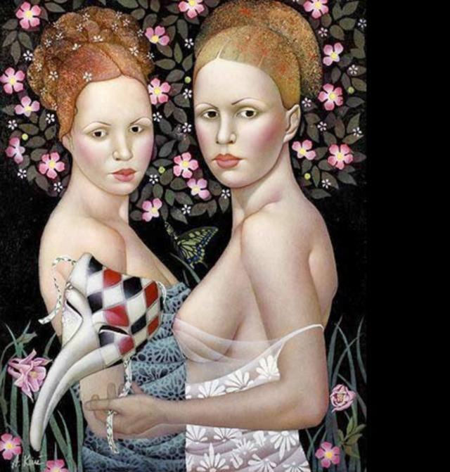 女人就像一个微妙的谜,拉脱维亚女画家阿吉塔·凯里插图51