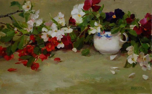 美美的花,美国女画家凯西·安德森插图33