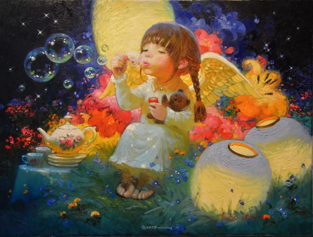 俄罗斯油画家的童话世界:愿你永远是个孩子!插图
