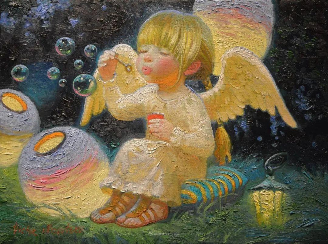 俄罗斯油画家的童话世界:愿你永远是个孩子!插图1