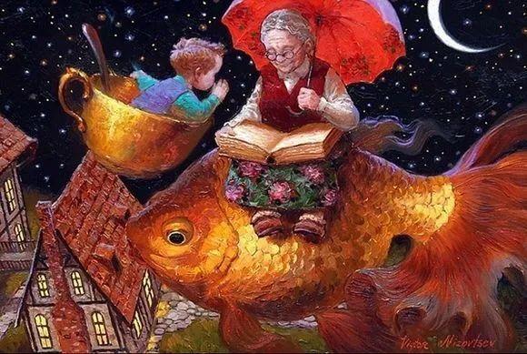 俄罗斯油画家的童话世界:愿你永远是个孩子!插图14