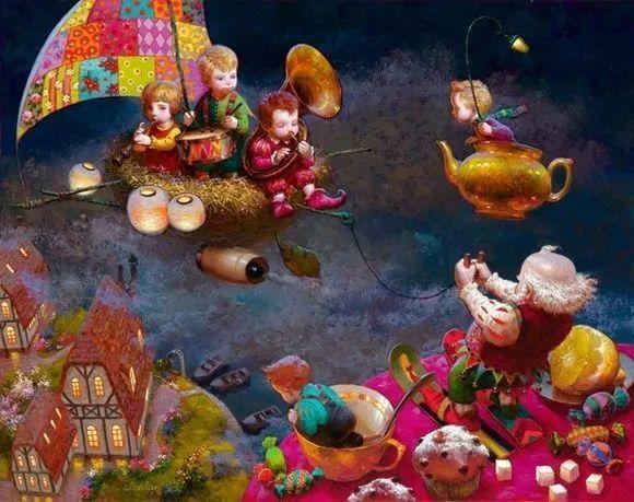 俄罗斯油画家的童话世界:愿你永远是个孩子!插图15