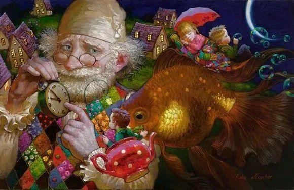 俄罗斯油画家的童话世界:愿你永远是个孩子!插图19