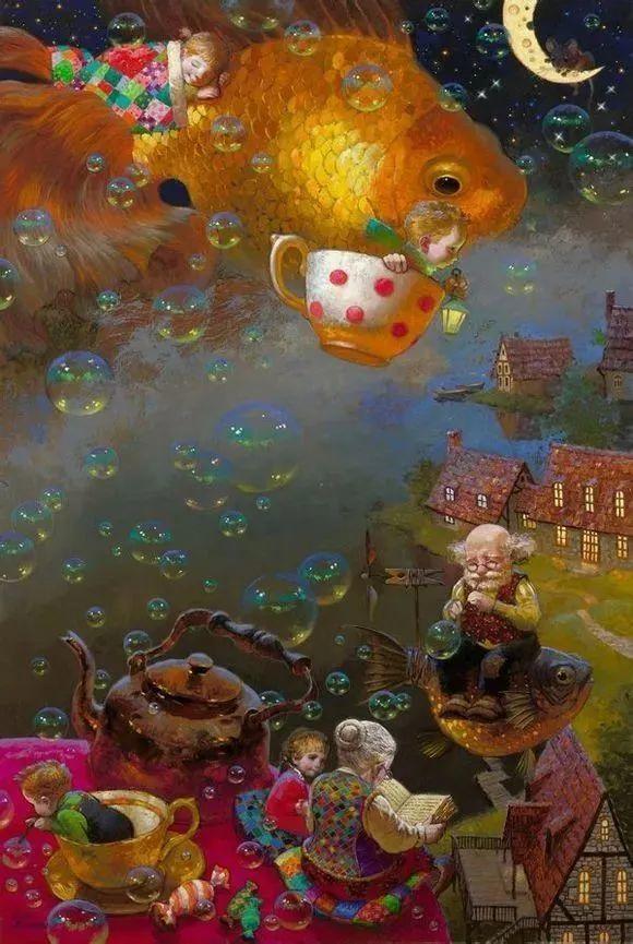 俄罗斯油画家的童话世界:愿你永远是个孩子!插图20