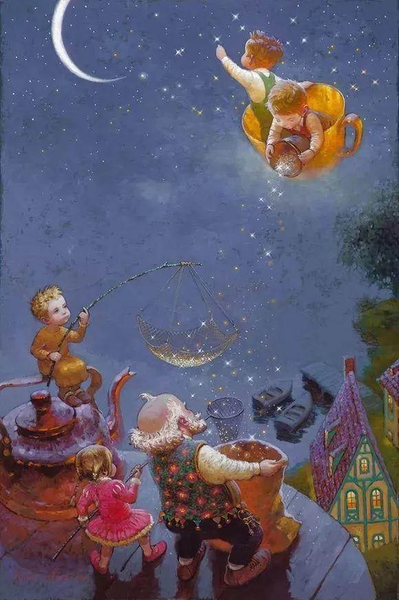 俄罗斯油画家的童话世界:愿你永远是个孩子!插图27