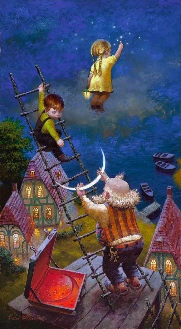 俄罗斯油画家的童话世界:愿你永远是个孩子!插图28