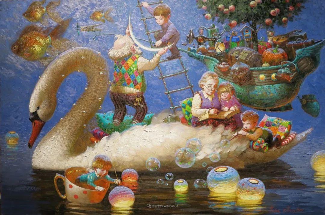 俄罗斯油画家的童话世界:愿你永远是个孩子!插图29