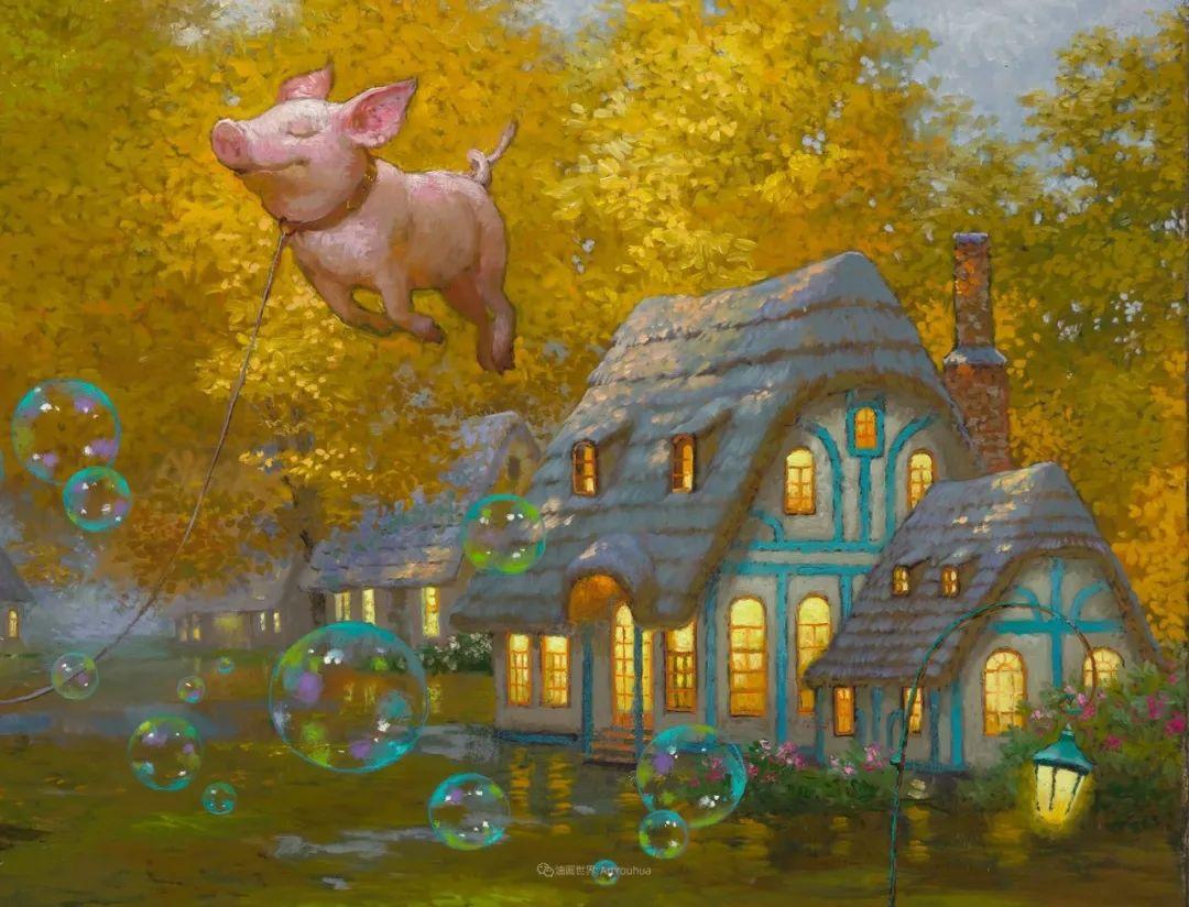 俄罗斯油画家的童话世界:愿你永远是个孩子!插图56