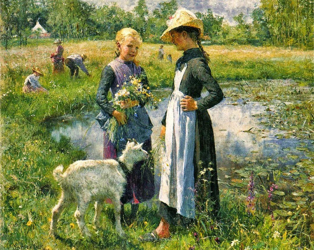 百年前的田园生活,比利时画家Evariste Carpentier插图1