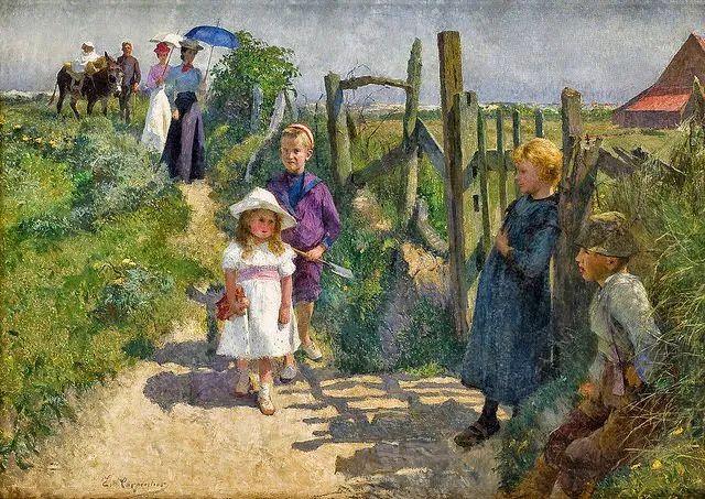 百年前的田园生活,比利时画家Evariste Carpentier插图5